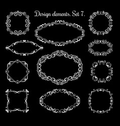 hand drawing ornamental frames ornate vector image vector image