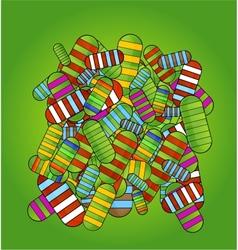 medic pills symbols background green color vector image vector image