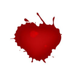realistic blood splatters red ink splatters vector image vector image