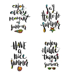 Summer holidays calligraphy greetings vector image vector image