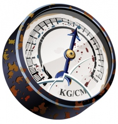 vintage pointer indicator vector image vector image