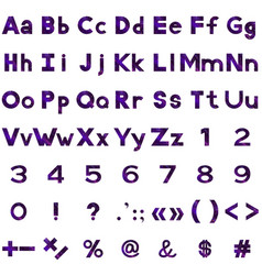 alphabet numbers and signs set serpentines vector image