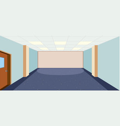 an empty room template vector image