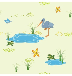 animals and butterflies vector image