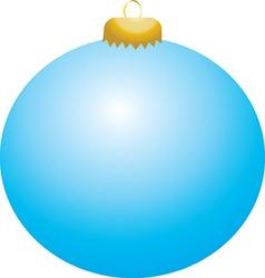 Baby Blue Ball Ornament vector