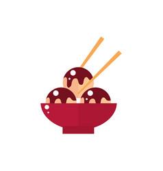ball dumplings sticks food culture japan icon vector image