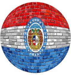 Ball with missouri flag vector
