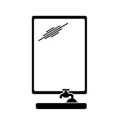 Bathroom icon image vector