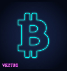 bitcoin icon template isolated vector image