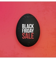 Black Friday Sale realistic Egg vector