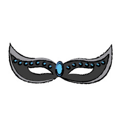 Brazilian carnival mask celebration image vector
