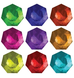 Brilliant cut gems vector