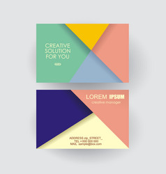 business card design with poligonal geometric vector image