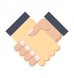 Business partnership meeting vector image