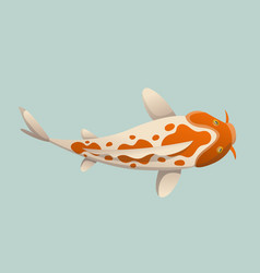 calmly floating fish koi fish vector image