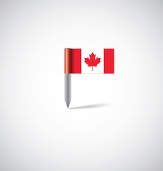 canada flag pin vector image