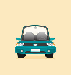 car front view flat vector image