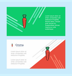 carrot abstract corporate business banner vector image