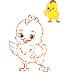 Chicken coloring page vector
