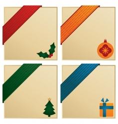 Christmas corners vector image