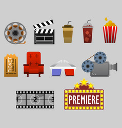 cinema watching graphic vector image