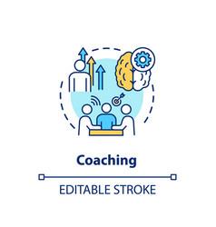 Coaching concept icon vector