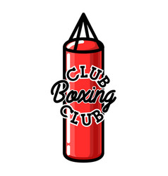 Color vintage boxing club emblem vector