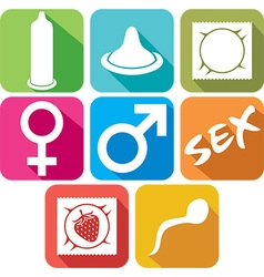Condom Icon Set vector