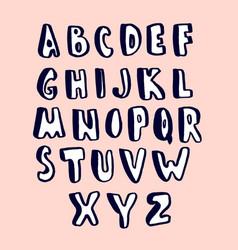 creative hand drawn alphabet stylish abc made vector image