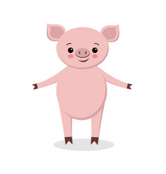 cute pig cartoon cartoon pig vector image