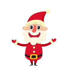 Cute smiling santa claus cartoon vector