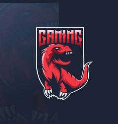 dinosaur gaming logo vector image