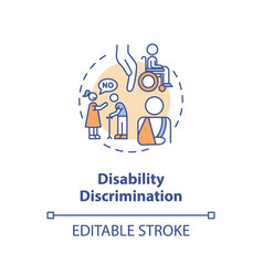 Disability discrimination concept icon vector