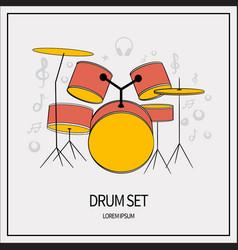 drum set icon vector image