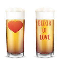 Elixir love modern concept love potion vector