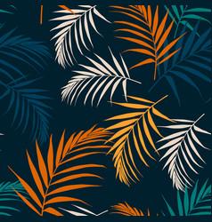 fashion night style jungle pattern seamless vector image