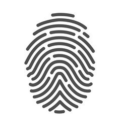 fingerprint icon identification crime and vector image