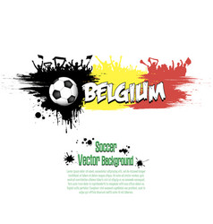 Flag of belgium and football fans vector