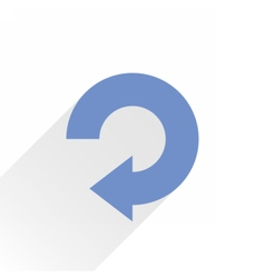 Flat blue arrow icon reload refresh sign vector