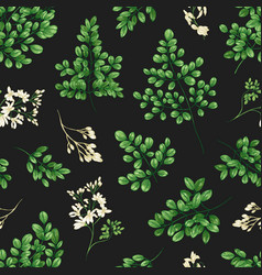 floral seamless pattern with miracle tree or vector image