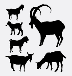 Goat pet animal silhouette vector