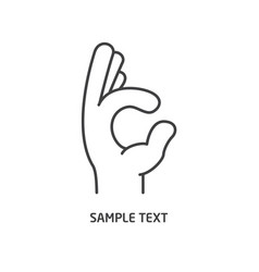 hand line icon vector image