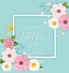Happy mothers day holiday banner mother day card vector