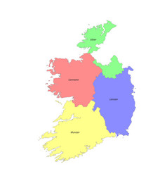 High quality labeled map ireland with borders vector