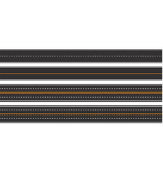 horizontal asphalt roads seamless pattern vector image