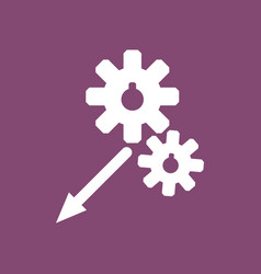 Icon two gears vector