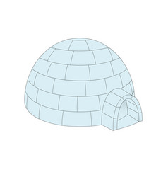 igloo in light blue design vector image