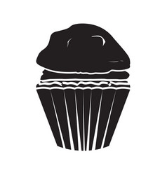 isolated muffin icon vector image