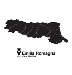 Italy Emilia Romagna map vector