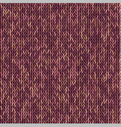 Knit texture melange red color seamless pattern vector
